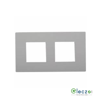 Schneider Electric Opale Cover Plate 4 Module, White, With Support Frame