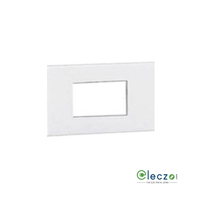 Schneider Electric Opale Cover Plate 3 Module, White, With Support Frame