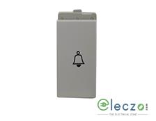 Schneider Electric Opale Switch 6 A, White, 1 Module, Bell Push