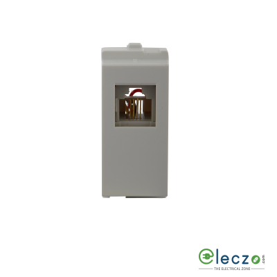 Schneider Electric Opale Telephone Outlet 1 Module, White, RJ 11