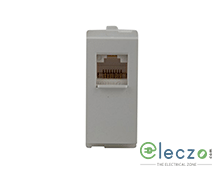 Schneider Electric Opale Telephone Outlet With Shutter 1 Module, White, RJ 11