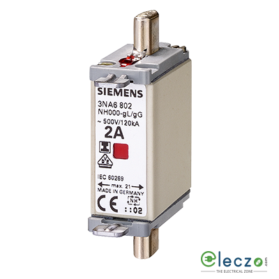 Siemens Sentron Sitor 3NE8 Fuse For Semiconductor Protection 125A, 690VAC, Size 00