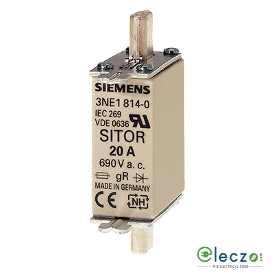 Siemens Sentron Sitor 3NE1 Fuse For Semiconductor Protection 80A, 690VAC, Size 000