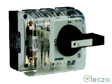 Siemens Sentron 3KL8 Switch Disconnector Fuse 32 A, TPN, SS Enclosure, DIN Type, 690 V AC
