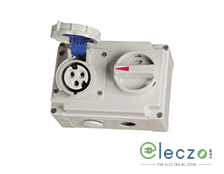 9 Electric Industrial Socket With Mechanical Interlock Switch 16-20 A, 3 Pole+E, IP 44