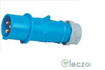 9 Electric Industrial Standard Plug 16-20 A, 2 Pole+E, IP 44, 230 V, 6H