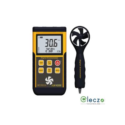 Beetech AM 4208+ Digital Anemometer, Air Velocity Range 45m/s