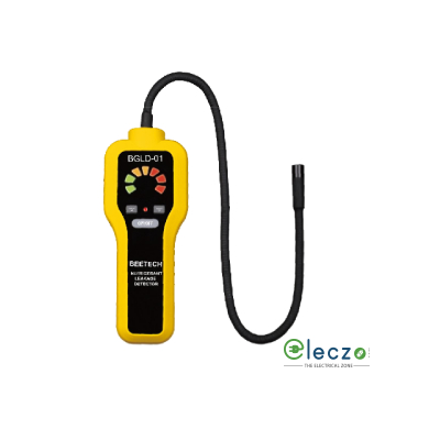 Beetech BGLD 01 Refrigerant Gas Leakgae Detector, Detects R-22, R-134A, R-404A, R-410A, R-407C, R-502, R-600A, R-1234YF and More Refrigerant Gases, Equal Sensitivity to CFCs, HFCs & HFCs