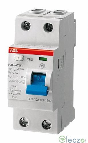 ABB F 200 RCCB 100 A, 2 Pole, 30 mA, Type AC