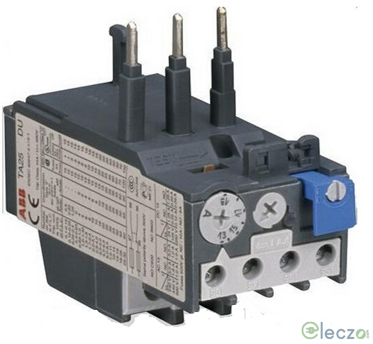 ABB TA25 Thermal Overload Relay 0.4 - 0.63 A, Direct Mounting, Auto/Manual Reset, Suitable For A9 to A40, AX9 to AX32, AL9 to AL40, TAL9 to TAL40 Contactor