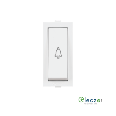 Anchor Rider Slim Switch 6 A, White, 1 Module, Bell Push