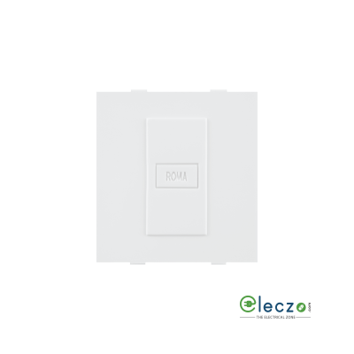Anchor Roma Classic White Blank Plate, 2 Module