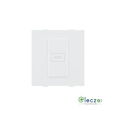 Anchor Roma Classic Dura Blank Plate Dura 2 Module, White