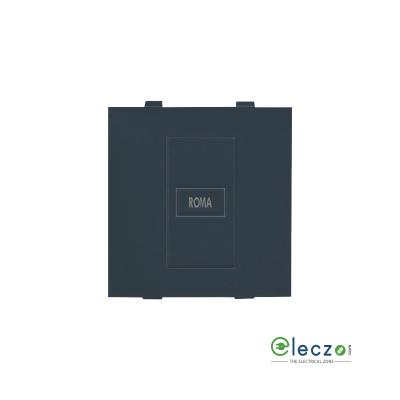Anchor Roma Classic Dura Blank Plate 2 Module, Black