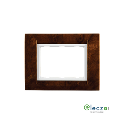 Anchor Roma Classic Tresa Cover Plate 1 Module, Oak Wood, With White Support Frame