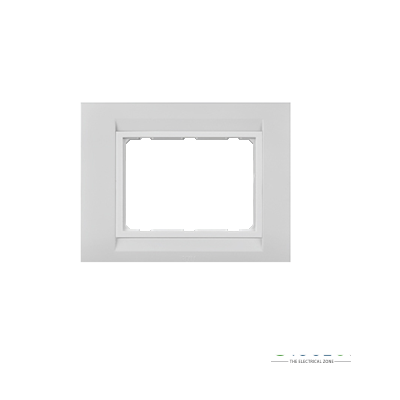 Anchor Roma Classic Tresa Cover Plate 4 Module, Solid White, With Support Frame