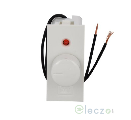 Anchor Roma Classic White Light Dimmer 450 W, 1 Module, With Indicator