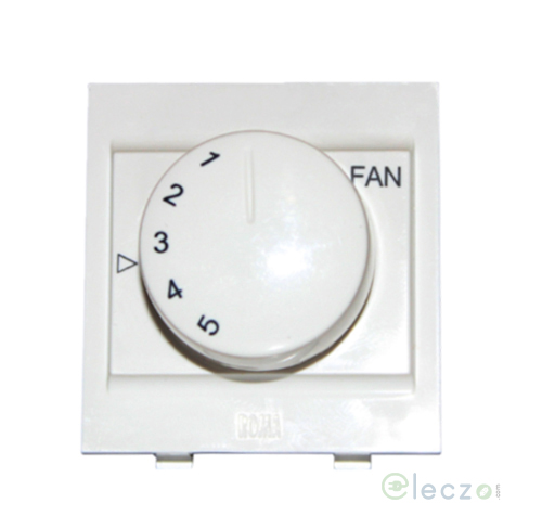 Anchor Roma Classic Fan Regulator Dura 100 W, 2 Module, White, 5 Step