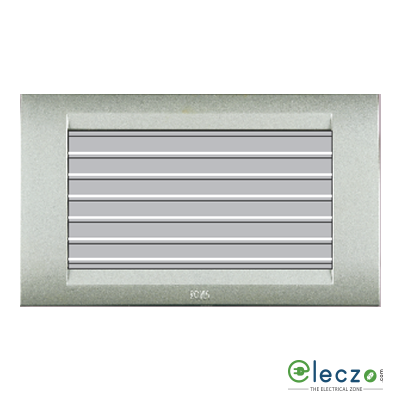 Anchor Roma Classic Silver Foot Light (Louvers) 4 Module, White-Lamp