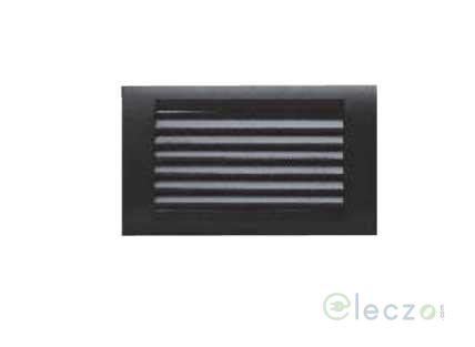 Anchor Roma Classic Black Foot Light (Louvers) 4 Module, White-Lamp