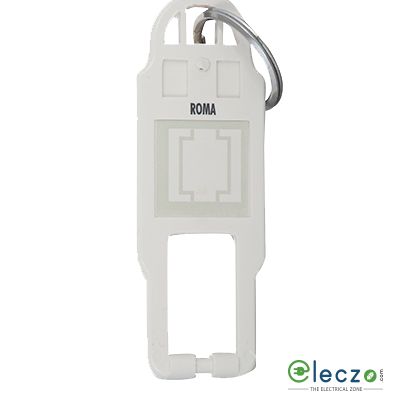 Anchor Roma Classic White Key Tag for Hotel Key Switch