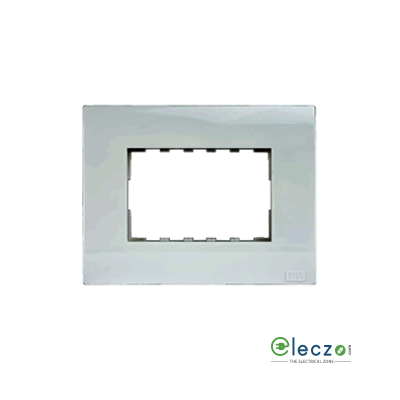 Anchor Roma Plus Cover Plate 3 Module, Glossy Finish, With Support Frame