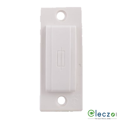 Anchor Roma Plus Fuse Outlet 16/10 A, White