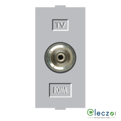 Anchor Roma Classic Silver TV Socket, 1 Module