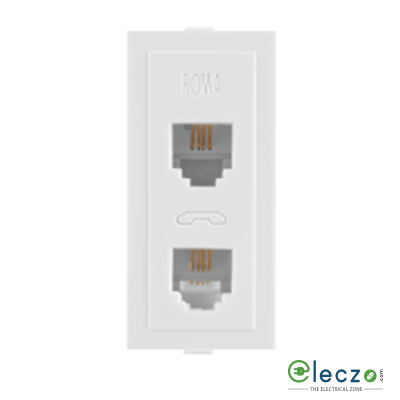 Anchor Roma Classic White Telephone Outlet RJ 11, 1 Module, Double Jack