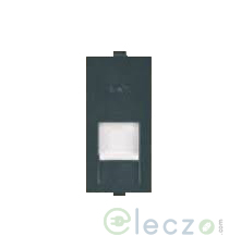 Anchor Roma Classic Black Telephone Outlet RJ 11, 1 Module, Single Jack With Safety Shutter