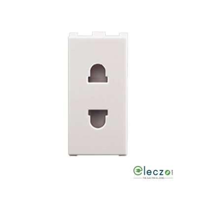 Anchor Roma Urban White 2 Pin Universal Socket 6 A, 1 Module, With Safety Shutter