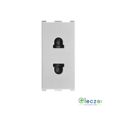 Anchor Roma Urban 2 Pin URO Socket With Safety Shutter 10 A, 1 Module, Silver