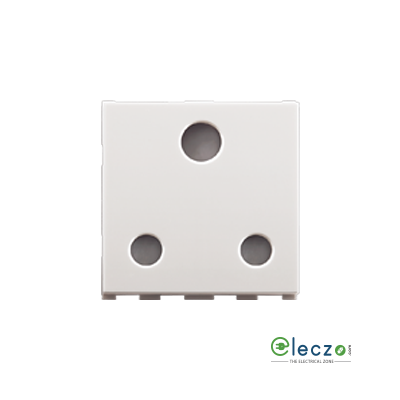 Anchor Roma Urban White 3 Pin Socket 16 A, 2 Module, With Safety Shutter