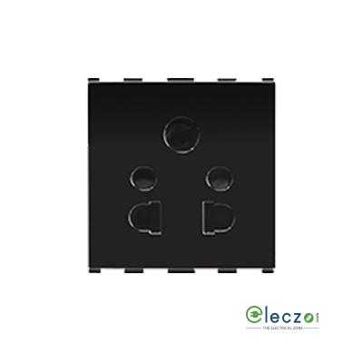Anchor Roma Urban 3 Pin Socket 16 A, 2 Module, Black