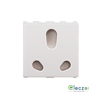 Anchor Roma Urban White 3 Pin Twin Socket 10/20 A, 2 Module, With Safety Shutter