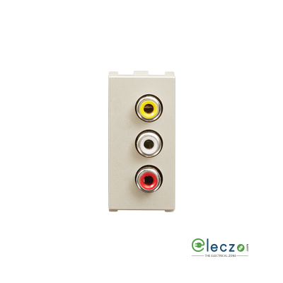 Anchor Roma Urban White Audio Video Socket, 1 Module