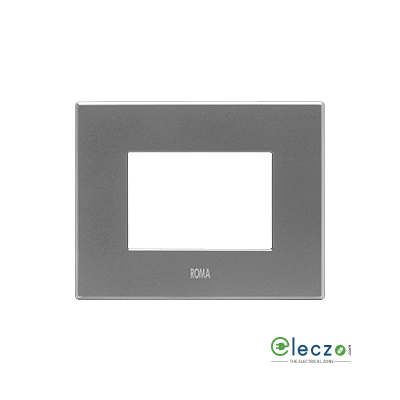 Anchor Roma Urban Cover Plate 4 Module, White Square Design, With Support Frame