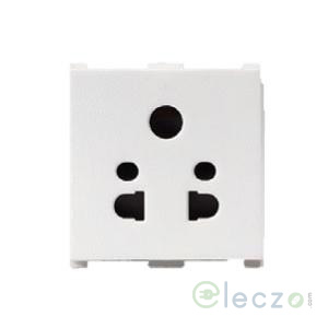 Anchor Vision 2 Or 3 Pin Multi Socket With Shutter 10 A, 2 Module, White
