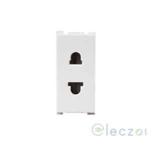 Anchor Vision 2 Pin F/R Socket With Shutter 10 A, 1 Module, White
