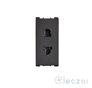 Anchor Vision 2 Pin F/R Socket With Shutter 10 A, 1 Module, Black
