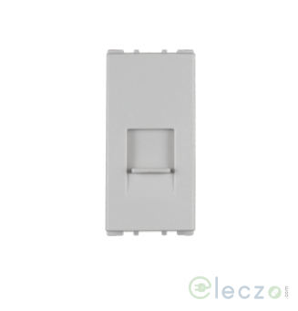 Anchor Vision White Telephone Outlet RJ 11, 1 Module, Single Jack With Safety Shutter
