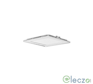 Crompton Pearl I LED Flat Panel Light 18 W, Warm White, Recessed Mounted, Square