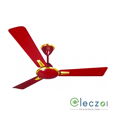 """Crompton Aura Decorative Ceiling Fan 1200 mm (48""""), Ruby Wood, 3 Blade, High Air Delivery"""