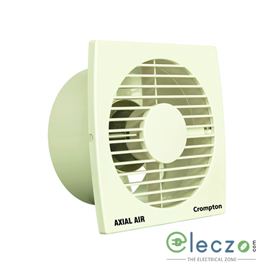 Crompton Axial Air Domestic Exhaust Plastic Ventillation Fan 100 mm (4''), Ivory
