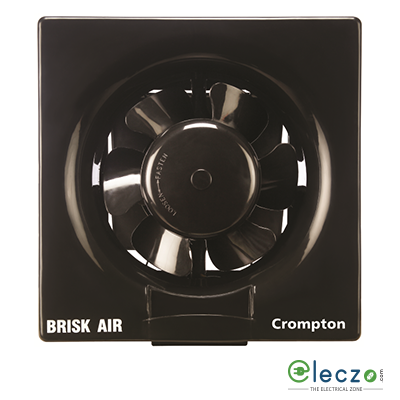 Crompton Brisk Air Domestic Exhaust Plastic Ventillation Fan 200 mm (8''), Black