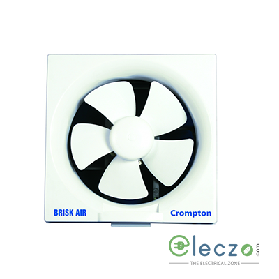 Crompton Brisk Air Domestic Exhaust Plastic Ventillation Fan 200 mm (8''), White