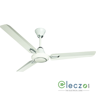 """Crompton Caliber Standard - Deco Ceiling Fan 1200 mm (48""""), Opal White, 3 Blade, High Air Delivery"""