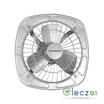 Crompton Drift Air Domestic Exhaust Metal Ventillation Fan 225 mm (9''), Silver