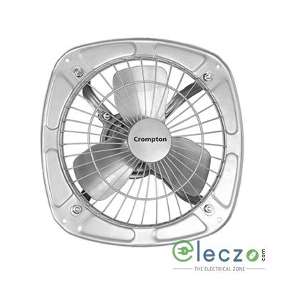 Crompton Drift Air Domestic Exhaust Metal Ventillation Fan 150 mm (6''), Silver