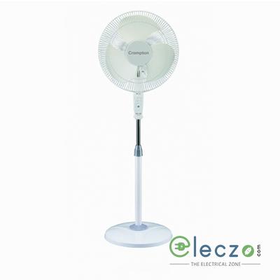 """Crompton PF Fizzair High Speed Pedestal Fan 400 mm (16""""), Opal White"""
